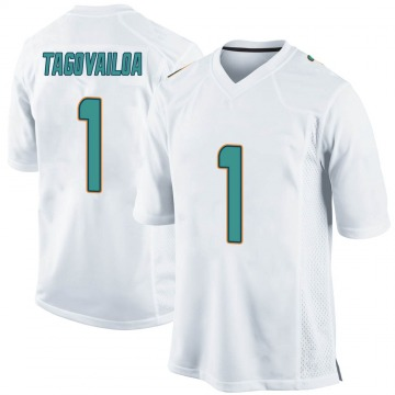 Youth Nike Miami Dolphins Tua Tagovailoa White Jersey - Game