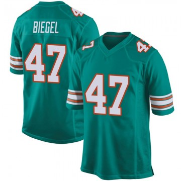 Youth Nike Miami Dolphins Vince Biegel Aqua Alternate Jersey - Game