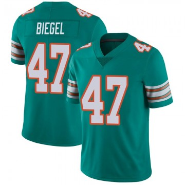 Youth Nike Miami Dolphins Vince Biegel Aqua Alternate Vapor Untouchable Jersey - Limited