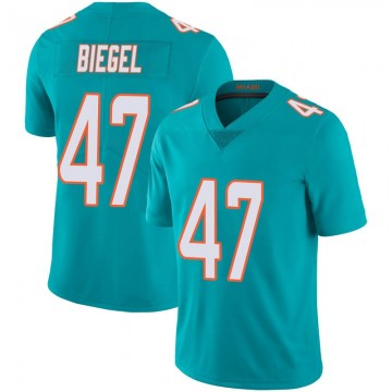Youth Nike Miami Dolphins Vince Biegel Aqua Team Color 100th Vapor Untouchable Jersey - Limited