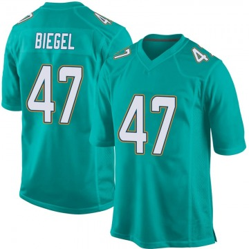 Youth Nike Miami Dolphins Vince Biegel Aqua Team Color Jersey - Game