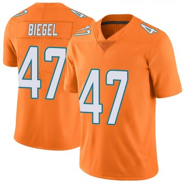Youth Nike Miami Dolphins Vince Biegel Orange Color Rush Jersey - Limited