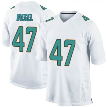 Youth Nike Miami Dolphins Vince Biegel White Jersey - Game