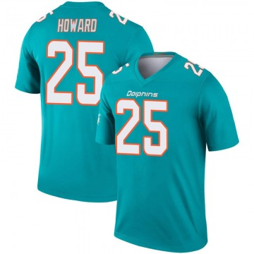 Youth Nike Miami Dolphins Xavien Howard Aqua Inverted Jersey - Legend