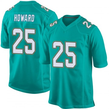 Youth Nike Miami Dolphins Xavien Howard Aqua Team Color Jersey - Game