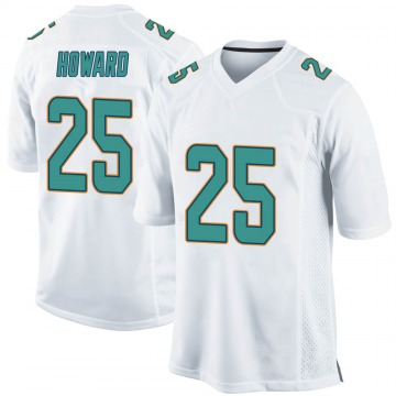 Youth Nike Miami Dolphins Xavien Howard White Jersey - Game