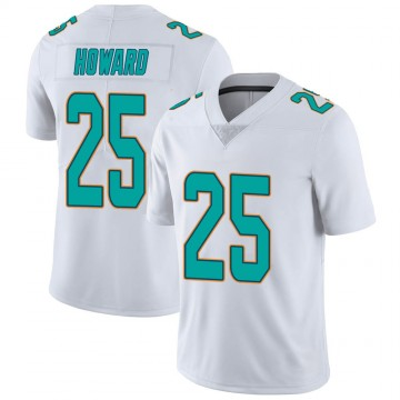 Youth Nike Miami Dolphins Xavien Howard White limited Vapor Untouchable Jersey -