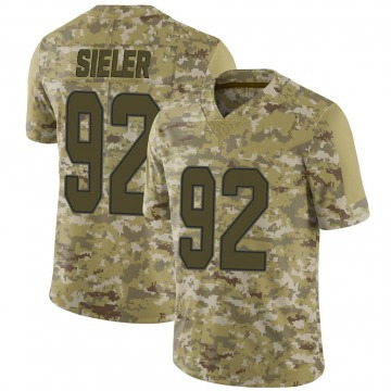Youth Nike Miami Dolphins Zach Sieler Camo 2018 Salute to Service Jersey - Limited