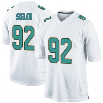Youth Nike Miami Dolphins Zach Sieler White Jersey - Game