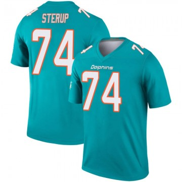 Youth Nike Miami Dolphins Zach Sterup Aqua Inverted Jersey - Legend